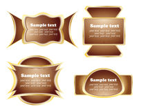 Chocolate label Stock Images
