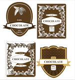 Chocolate label Royalty Free Stock Photos