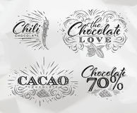 Chocolate labels collection Stock Photography