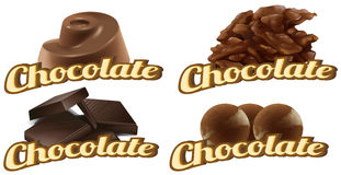 Chocolate labels Stock Image