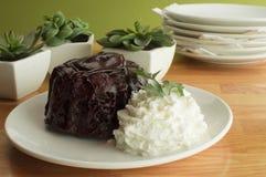 Chocolate Lava Cake Foto de archivo libre de regalías