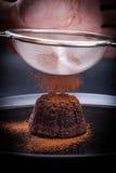 Chocolate Lava Cake fotografia de stock