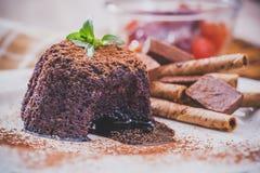 Chocolate Lava Cake fotos de stock royalty free