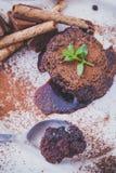 Chocolate Lava Cake imagem de stock