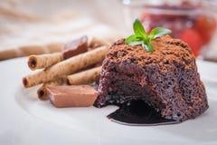 Chocolate Lava Cake foto de stock royalty free