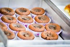 Chocolate lava cake Royalty Free Stock Photos