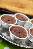 Chocolate lava cake in cups Stock Image