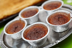 Chocolate lava cake in cups Royalty Free Stock Image