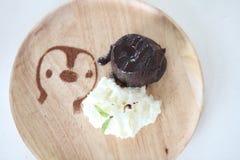 Chocolate Lava Cake with ice cream Stock Photography