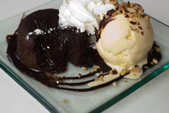 Chocolate  Lava cake Royalty Free Stock Photography