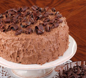 Chocolate Layer Cake Stock Photo
