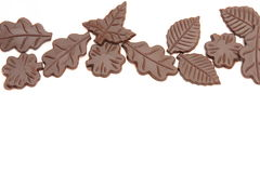 Chocolate leaves Royalty Free Stock Photography