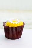 Chocolate lemon cupcake Royalty Free Stock Image