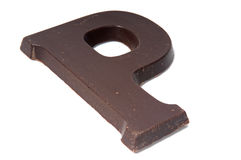Chocolate letter P Stock Images