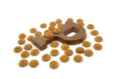 Chocolate letter P for Sinterklaas party Royalty Free Stock Photos