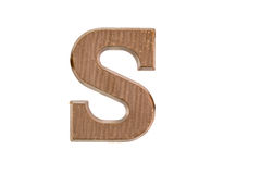 Chocolate letter on white Royalty Free Stock Photos
