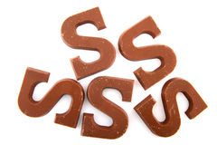 Chocolate letters Royalty Free Stock Photo