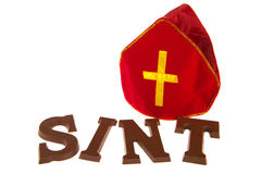 Chocolate letters for Dutch Sinterklaas Royalty Free Stock Photography