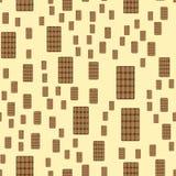 Chocolate on the light yellow background Stock Illustration