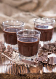 Chocolate Liqueur Shots Royalty Free Stock Photography