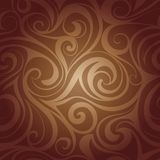 Chocolate liquid swirls Stock Images