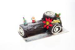 Chocolate Log Cake Stock Photos