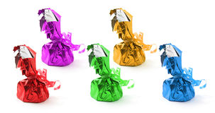 Chocolate Lollies. On Isolated White Background Royalty Free Stock Image