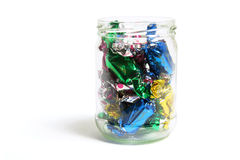 Chocolate Lollies in Glass Jar Royalty Free Stock Photos
