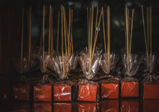 Chocolate lollipops Royalty Free Stock Photo