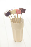 Chocolate lollipos Royalty Free Stock Image