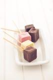 Chocolate lollipos Stock Photography