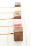 Chocolate lollipos Stock Photos