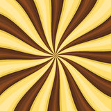 Chocolate Lollypop Candy Background With Swirling, Rotating, Twirling Stripes. Vector Royalty Free Stock Photos