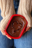Chocolate and Love Stock Images