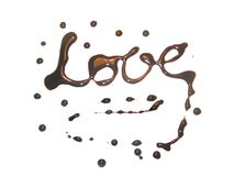 Chocolate Love. Sweet chocolate tasty love isolated Stock Images