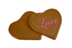 Chocolate love Stock Image