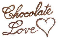 Chocolate love royalty free stock photography