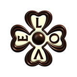Chocolate love clover candy isolated Royalty Free Stock Photography