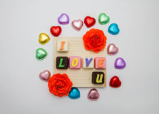 Chocolate love. Chocolate love comment Royalty Free Stock Images