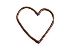 Chocolate love heart Royalty Free Stock Image