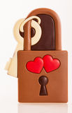Chocolate love lock Royalty Free Stock Image