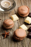 Chocolate macaroons Royalty Free Stock Images