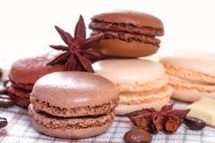 Chocolate macaroons Stock Image
