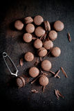 Chocolate macaroons Stock Image