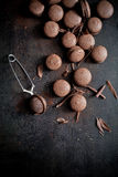 Chocolate macaroons Stock Photography