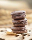 Chocolate  macarrones fotografía de archivo libre de regalías