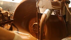 Chocolate machine stock video footage