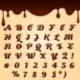 Chocolate made text Royalty Free Stock Photos