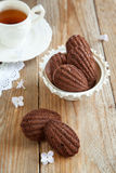 Chocolate madeleines Stock Images