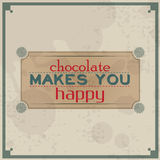 Chocolate makes you happy Royalty Free Stock Photography